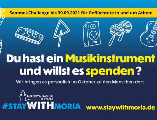 Neues von StayWithMoria: spendet ein Musikinstrument!