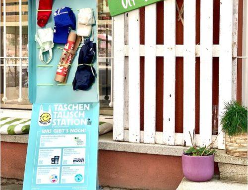 Team Frankfurt Klimaschutz unterstützt die Frankfurter Taschenstationen